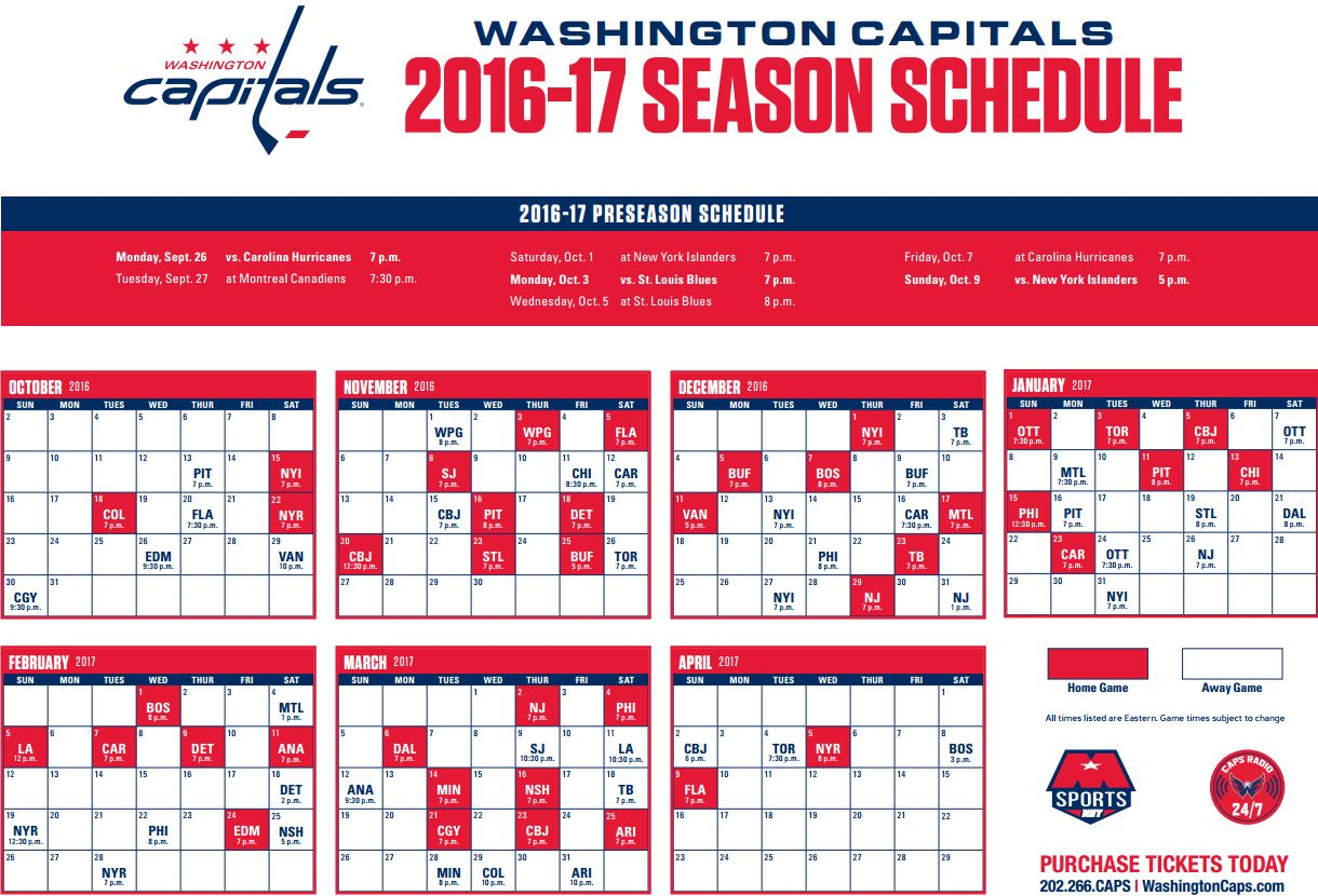 graphic regarding Washington Capitals Schedule Printable named Washington Caps Timetable Illustrations and Kinds