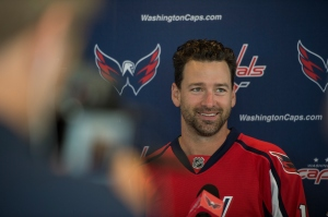BALLSTON, VA Ð JULY 10: Washington Capitals new right wing Justin Williams answers questions during a press conference at the Kettler Capitals Iceplex in Ballston, Virginia, on Friday, July 10th, 2015. (Photo by Nikki Kahn/The Washington Post)