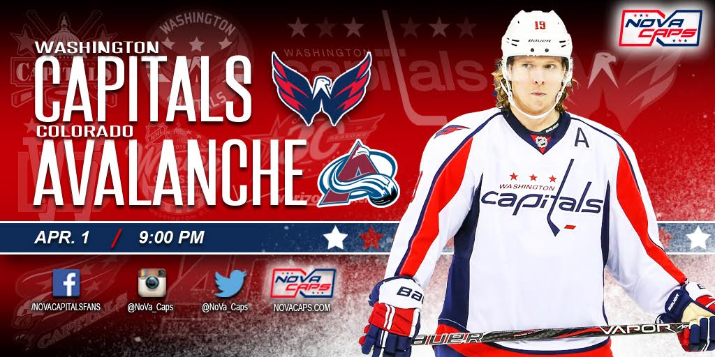 The Capitals continue their three game road trip with a Friday night game  from the Pepsi Center against the Colorado Avalanche. 1d7954e63dd1