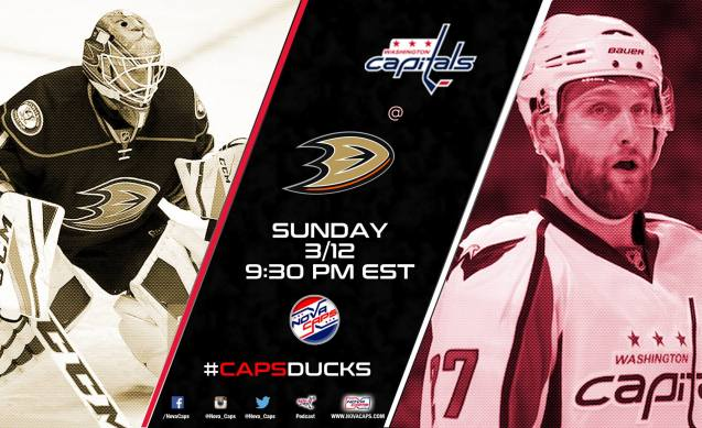 Capitals @ Ducks Preview Graphic