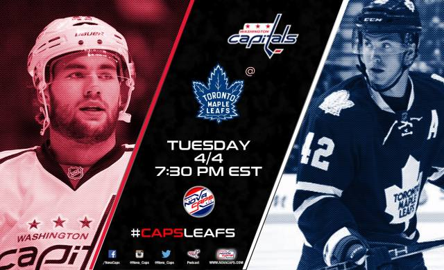Capitals @ Maple Leafs graphic