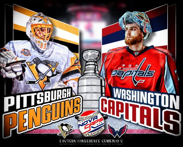 Penguins Versus Capitals Graphic