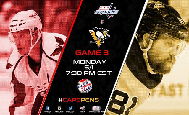 Game 3 Preview Capitals @ Penguins