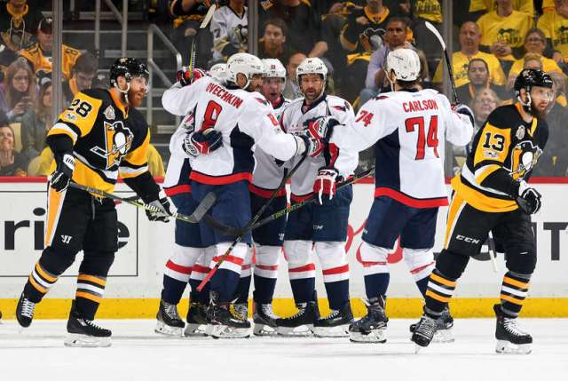 1692b9458a0 Photo by Joe Sargent NHLI via Getty Images. The Washington Capitals beat  the Pittsburgh Penguins ...