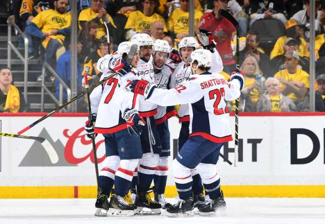 d5ea2dadc15 Photo by Gregory Shamus Getty Images. The Washington Capitals beat the  Pittsburgh Penguins 5-2 ...