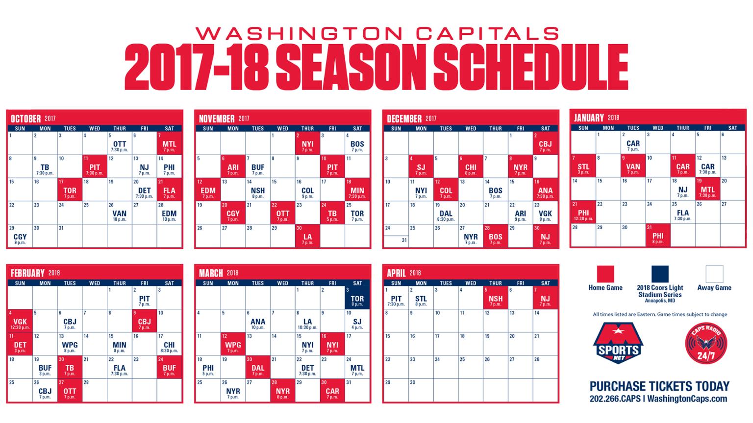 schedule | nova caps