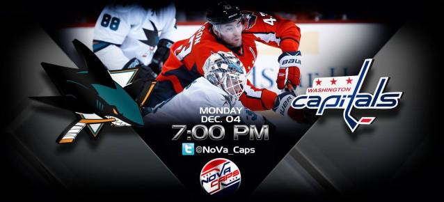 Sharks Capitals Game Preview Graphic