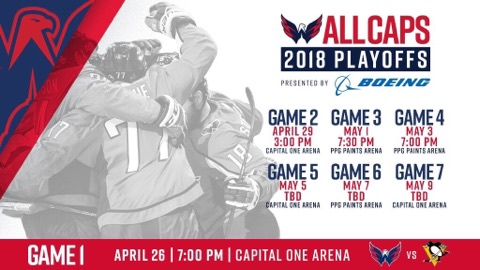 NHL Announces Second Round Schedule Between Capitals and Penguins ... b4b2bf4b75d
