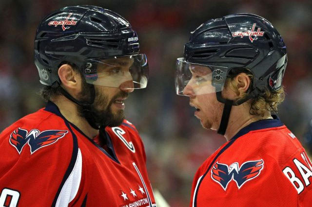 Alex Ovechkin and Nicklas Backstrom