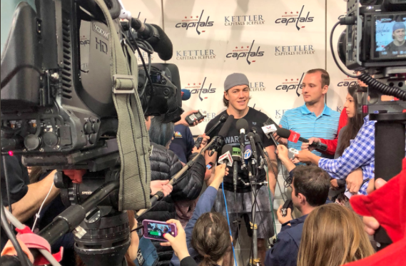 808846b31 T.J. Oshie  The Origin of Drinking Beer Through His Shirt