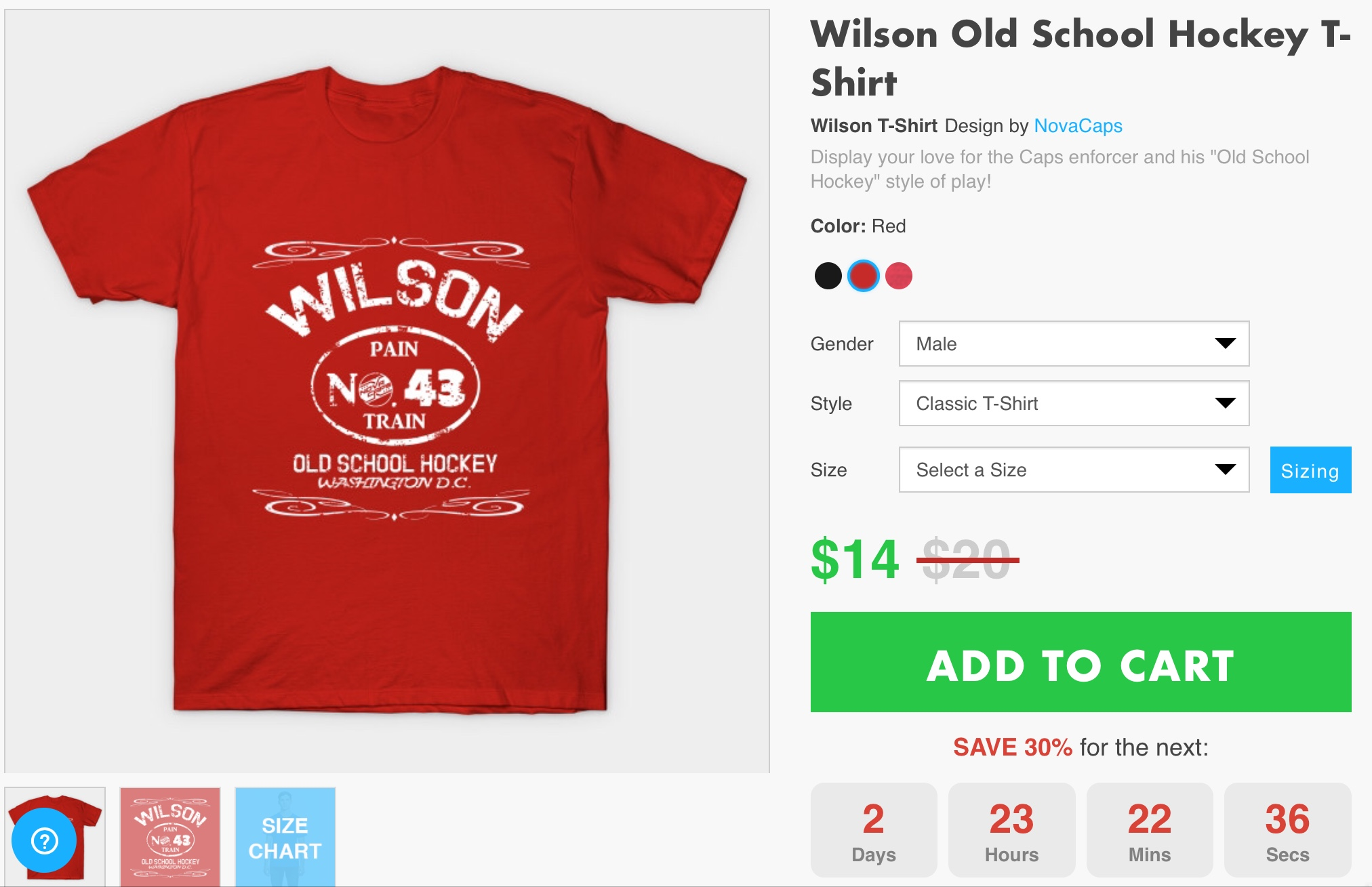 "5891f4ad7 Still Time to Grab Our Latest Design! Tom Wilson ""Old School Hockey""  T-Shirts | NoVa Caps"