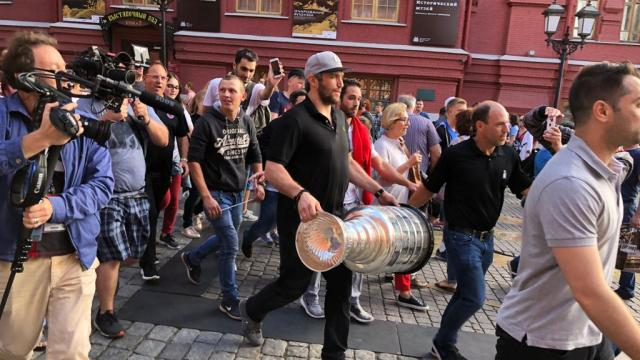 e03a7df50da Alex Ovechkin s Second Day with the Stanley Cup