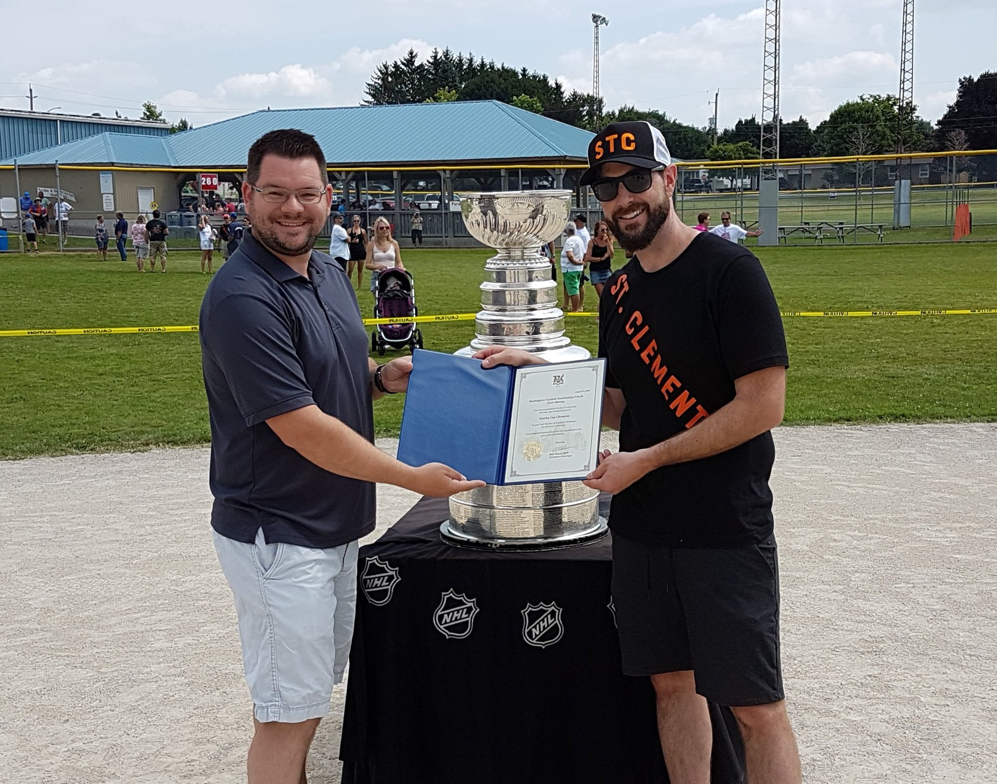 Capitals  Goalie Coach Scott Murray Has His Day With The Stanley Cup ... d53cef1b6