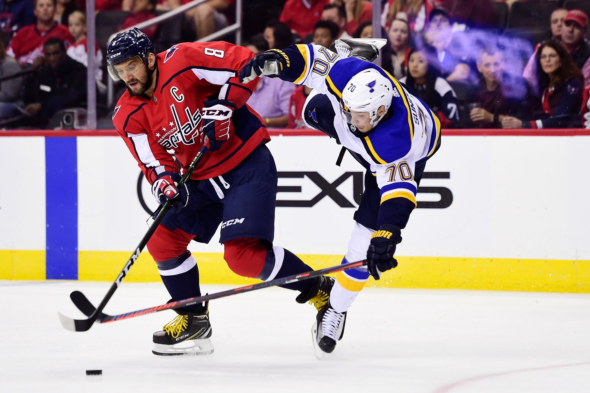 Capitals Beat The Blues 5-2 in Final Preseason Tune-up  Wilson Ejected From  Game  Caps Finish Preseason 2-3-2 61952dc46c5d