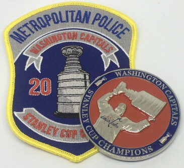 detailed look 09f41 623e2 Police Departments Create Patches Honoring the Capitals ...