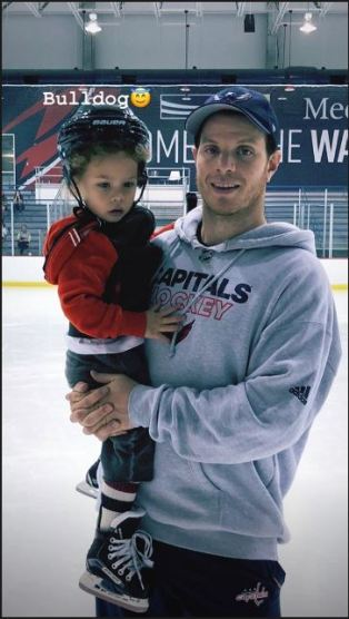 Carlson Holding Lucca After Skate
