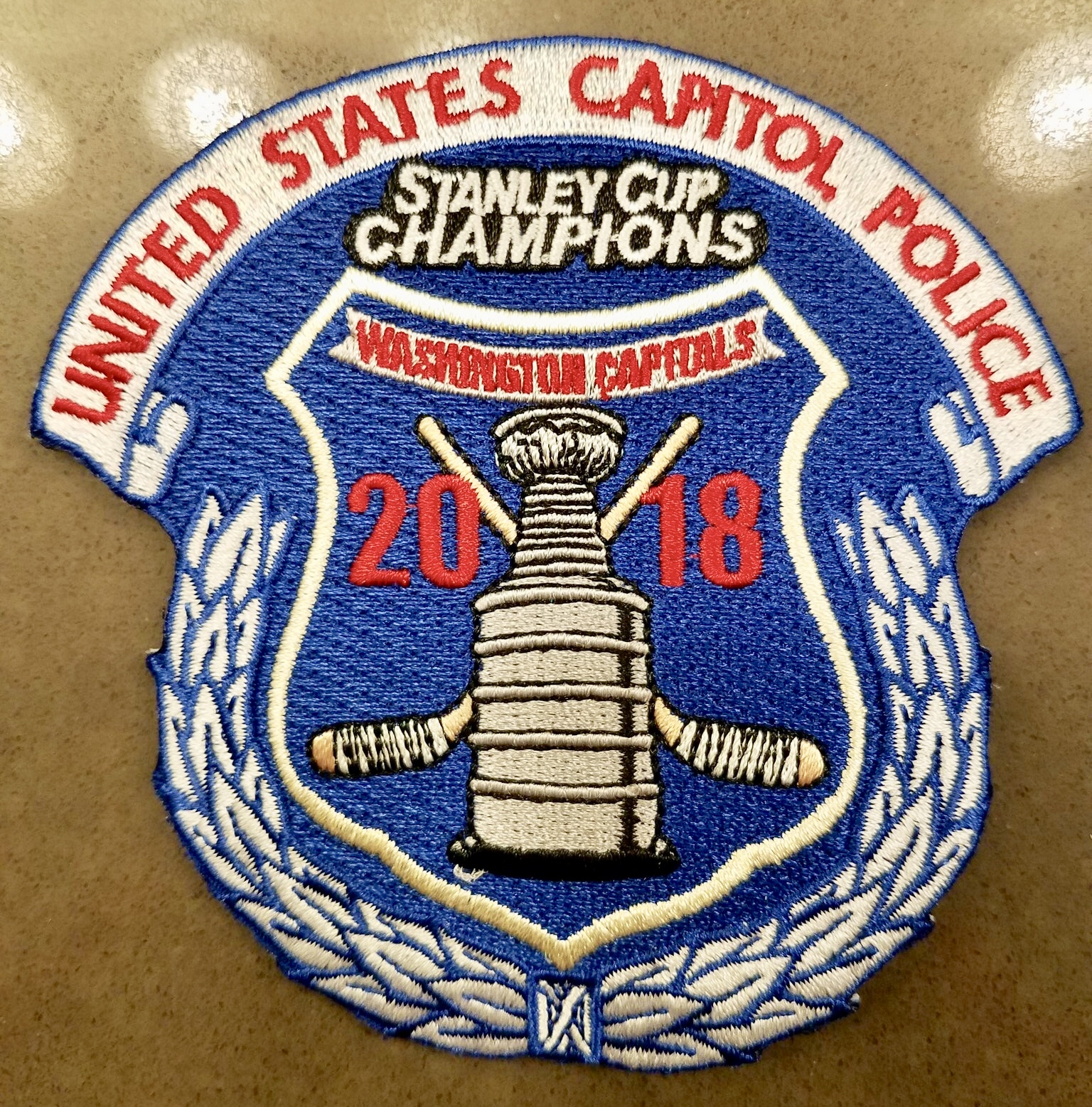detailed look 78948 5f4d6 Police Departments Create Patches Honoring the Capitals ...