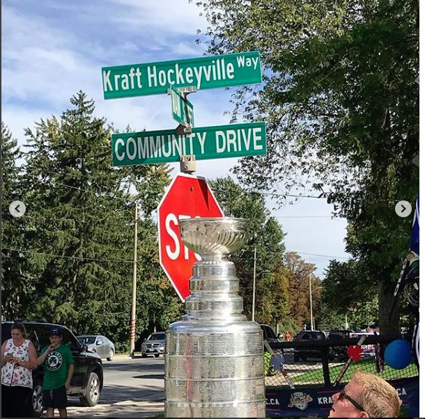 NHL Cup at Lucan Intersection
