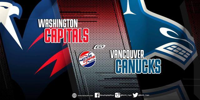 Capitals @ Canucks graphic