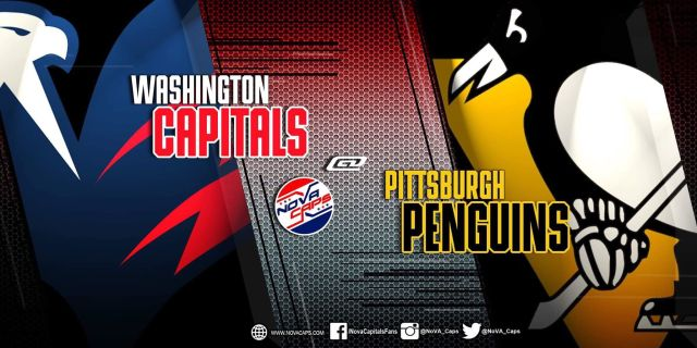 Capitals @ Penguins game graphic