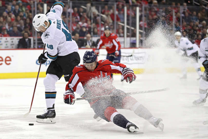 5f9cc57a88257a Sharks Outscore Capitals 7-6 (OT); Alex Ovechkin Scores 23rd Career ...