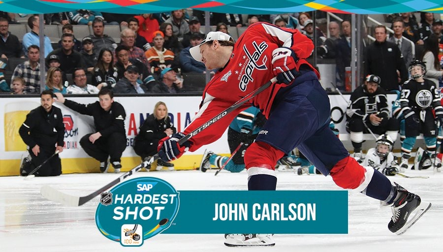 149316ad74a John Carlson Wins Hardest Shot Competition