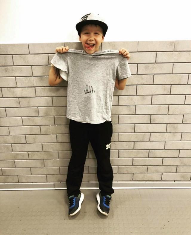 Kid with Ovi Autographed Shirt CCM