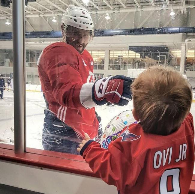 Happy Birthday Dad Sergei Ovechkin Visits Capitals